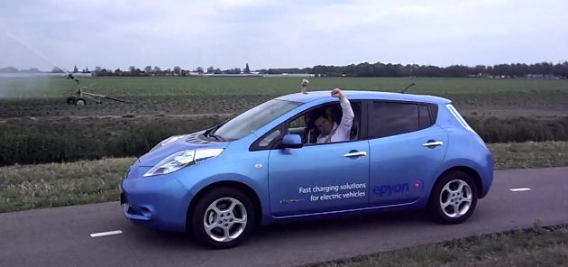 Nissan Leaf 24-hour road trip