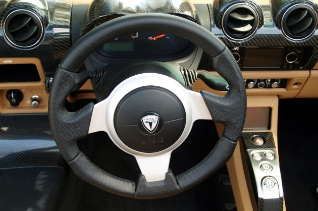 2010 Tesla Roadster interior