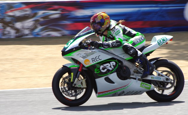 Shelina Moreda exits the corkscrew at Laguna Seca on the eCRP 1.4 by CRP Racing
