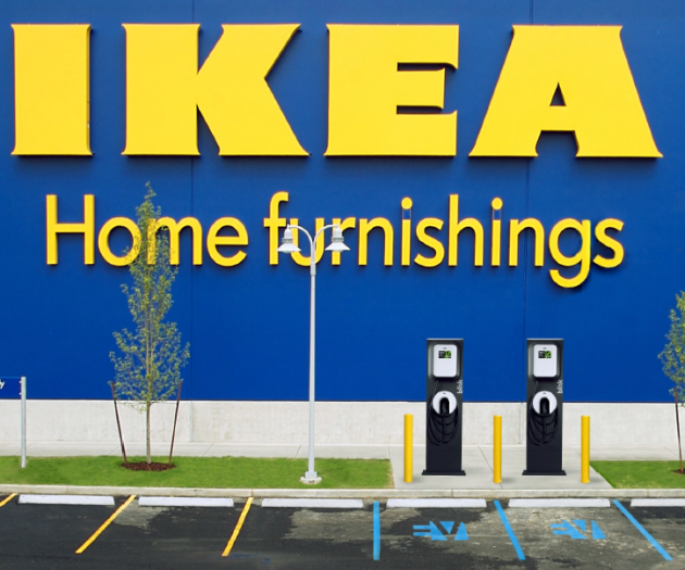 Ikea store with Blink charging stations