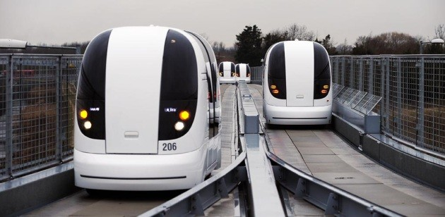 ULTra prt podcars at Heathrow