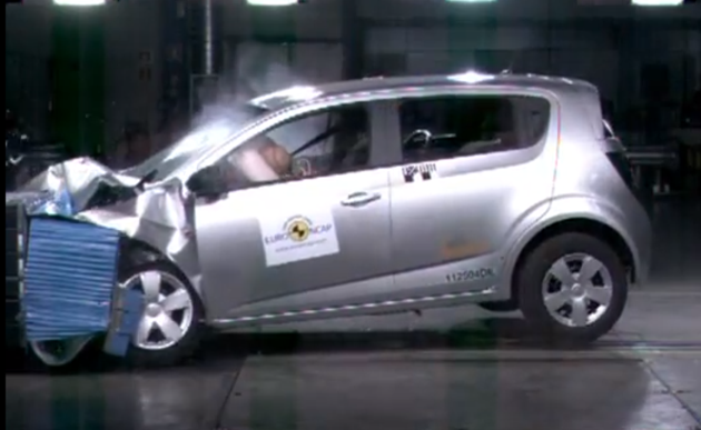 chevy aveo crash test