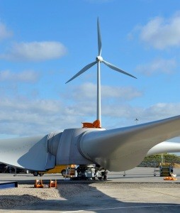 Turbine installed at Ford UK engine assembly site