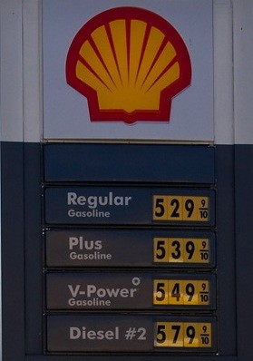 Shell gas station price