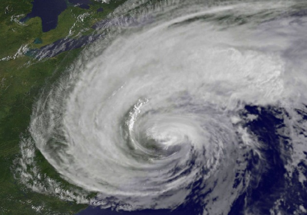 Hurricane Irene off the East Coast