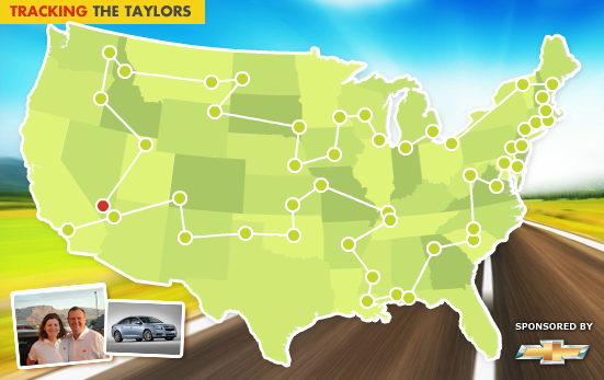 Taylors drive Cruze Eco across the U.S.