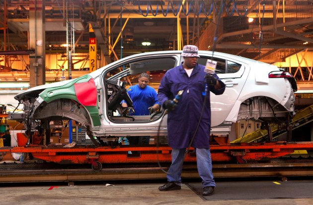 chevy volt assembly line
