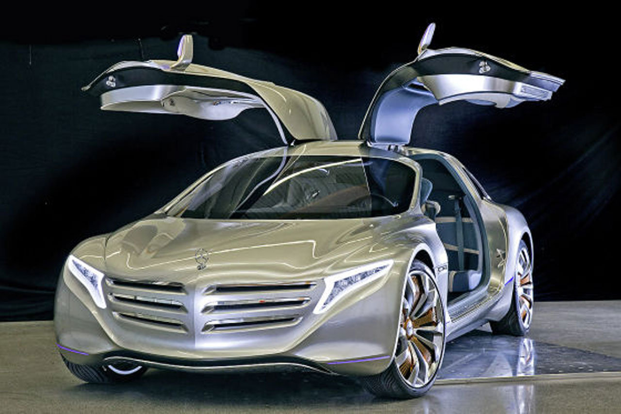 Mercedes benz f125 gullwing fuel cell concept leaks ahead for Mercedes benz hybrid cars