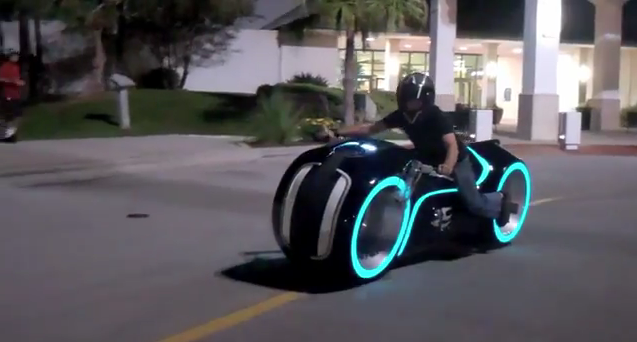 Electric Tron light cycle