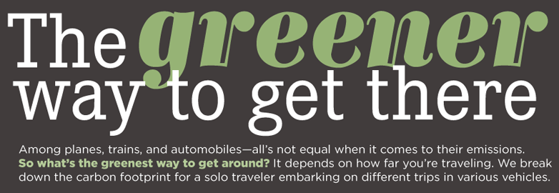 Infographic greener way to get there