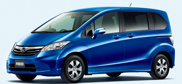 honda starts selling 51 mpg freed hybrid minivans in japan. Black Bedroom Furniture Sets. Home Design Ideas