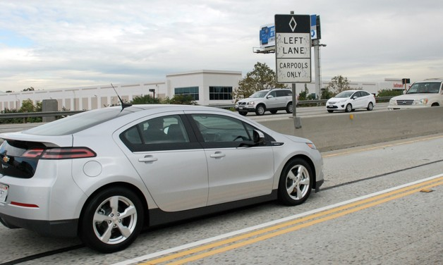 chevy volt hov lane
