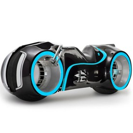 Evolve Xenon electric motorcycle is a replica of thet light cycle in the movie Tron
