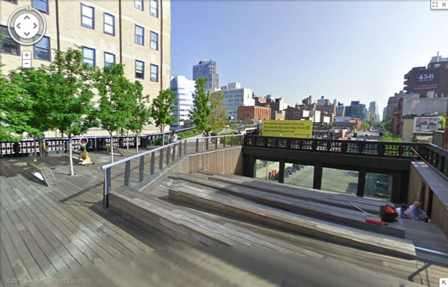 The High Line on Google Street View