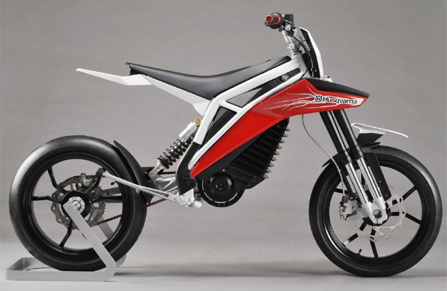Husqvarna E-Go electric motorcycle concept in profile