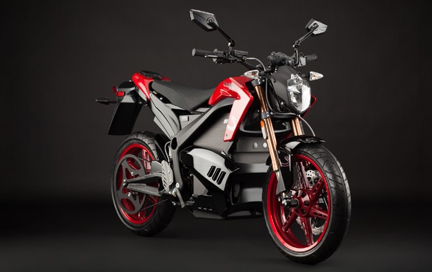 Studio shot of Zero Motorcycles 2012 S