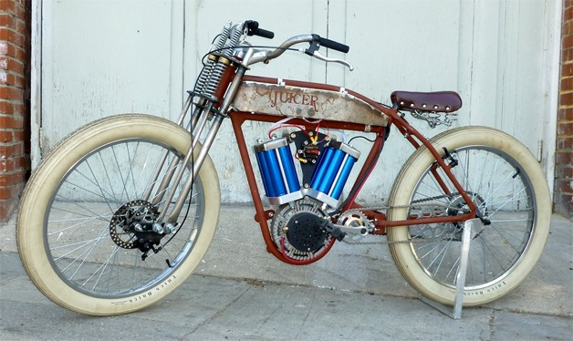 Juicer 48 Motorized Bicycle Gets Its Gumption From V Twin
