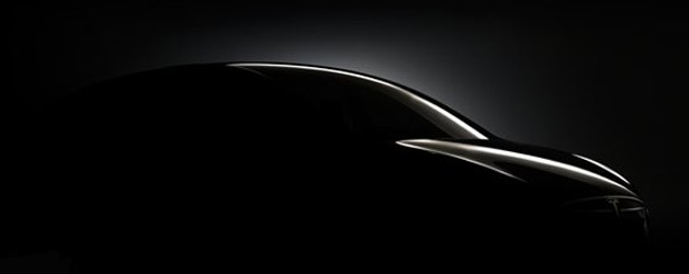 Partial silhouette image of Tesla Model X