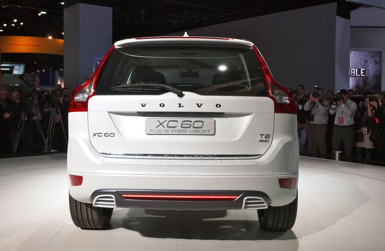 volvo xc60 plug in hybrid detroit 2012 photos photo. Black Bedroom Furniture Sets. Home Design Ideas