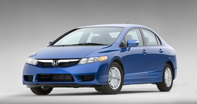 2009 Honda Civic Hybrid front three-quarter view