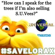 mazda #savelorax