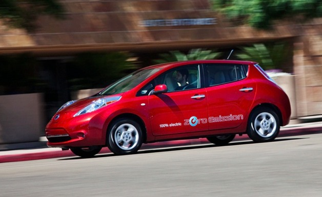2012 Nissan Leaf in motion