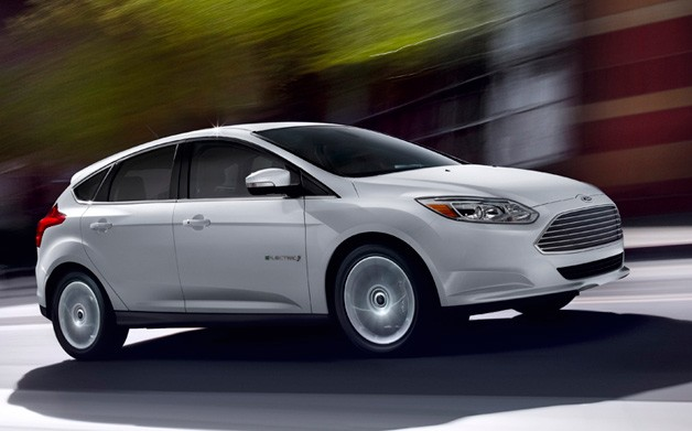 2012 Ford Focus Electric in motion