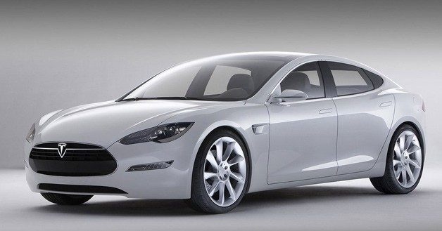 2013 Tesla Model S - front three-quarter studio shot