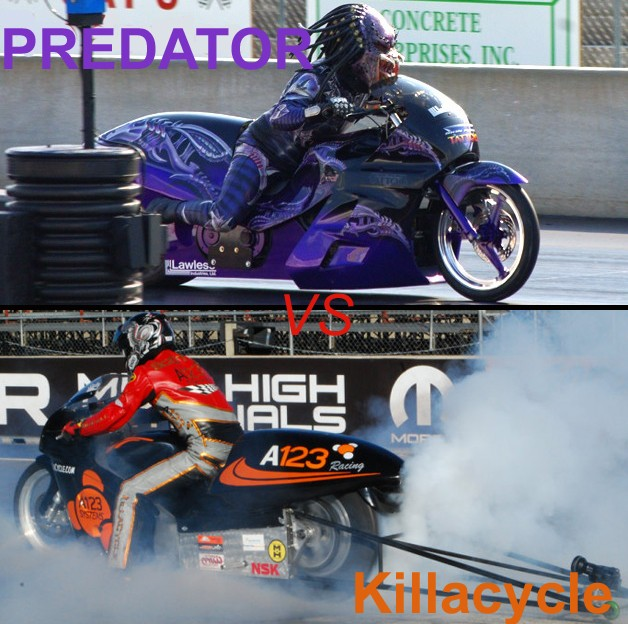 predator vs. killacycle
