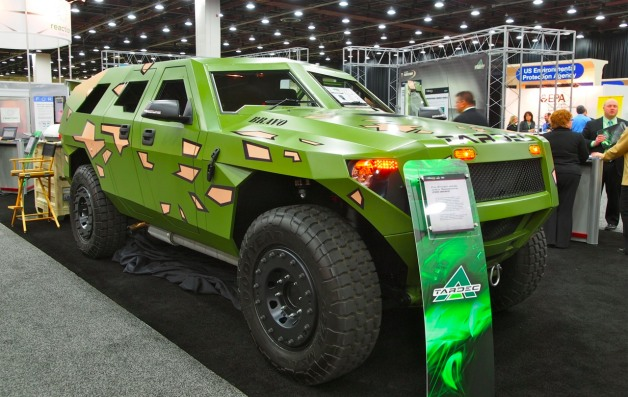 SAE World Congress 2012: Fuel Efficient Ground Vehicle Demonstrator (FED) front three-quarter