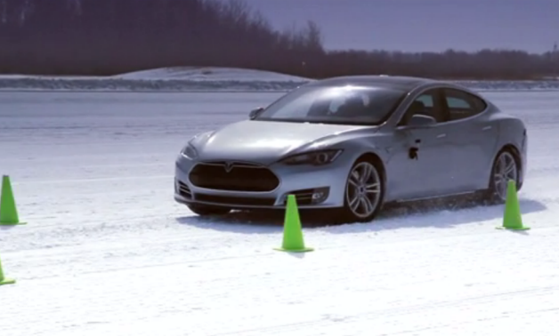 tesla model s cold weather testing