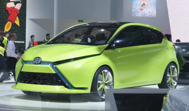 Toyota Dear Qin hatchback concept - on display in Beijing
