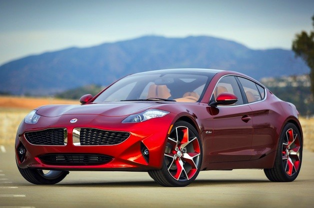Fisker Atlantic - red - front three-quarter image