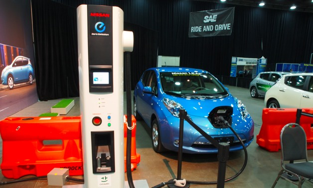 nissan leaf at SAE World Congress 2012