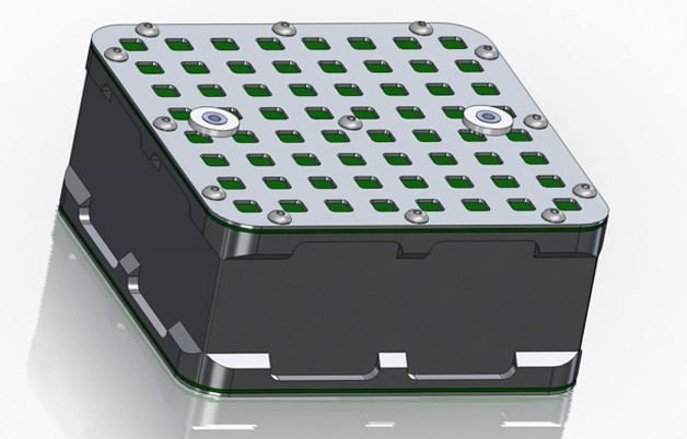 Computer render of battery pack design