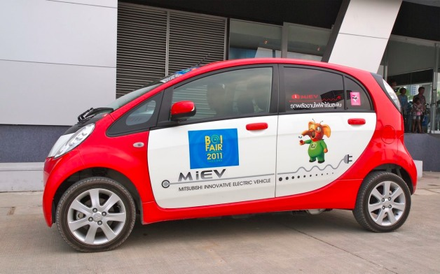 mitsibishi i-miev at thailand BOI fair