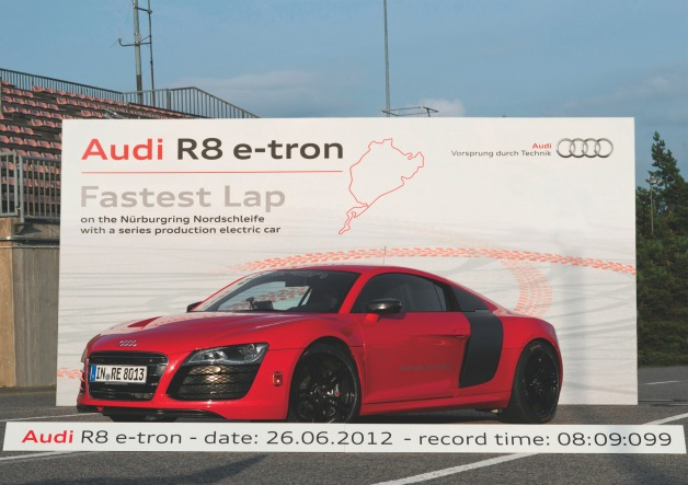Audi R8 e-tron at Nurburgring