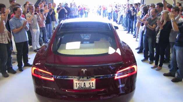 first tesla model s delivery