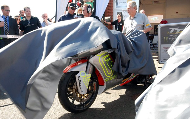 MotoCzysz 2012 E1pc electric motorcycle being unveiled