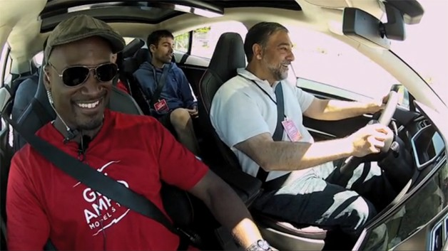 tesla model s customers test drive
