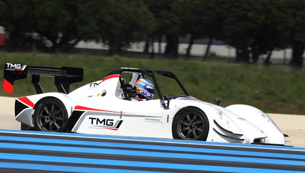 Toyota Motorsports Radical-based electric race car, the TMG EV P002