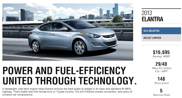 2013 Hyundai Elantra 40 mpg advertisment