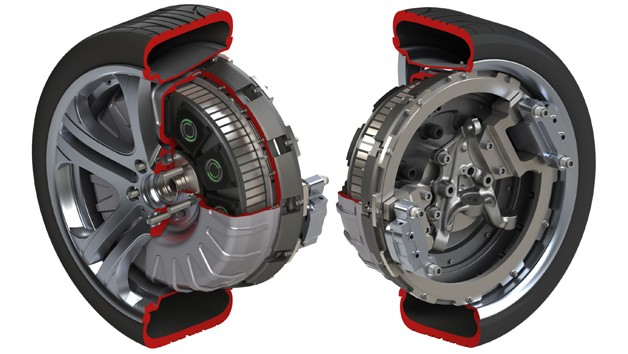 Protean electric in-wheel motor technical drawing