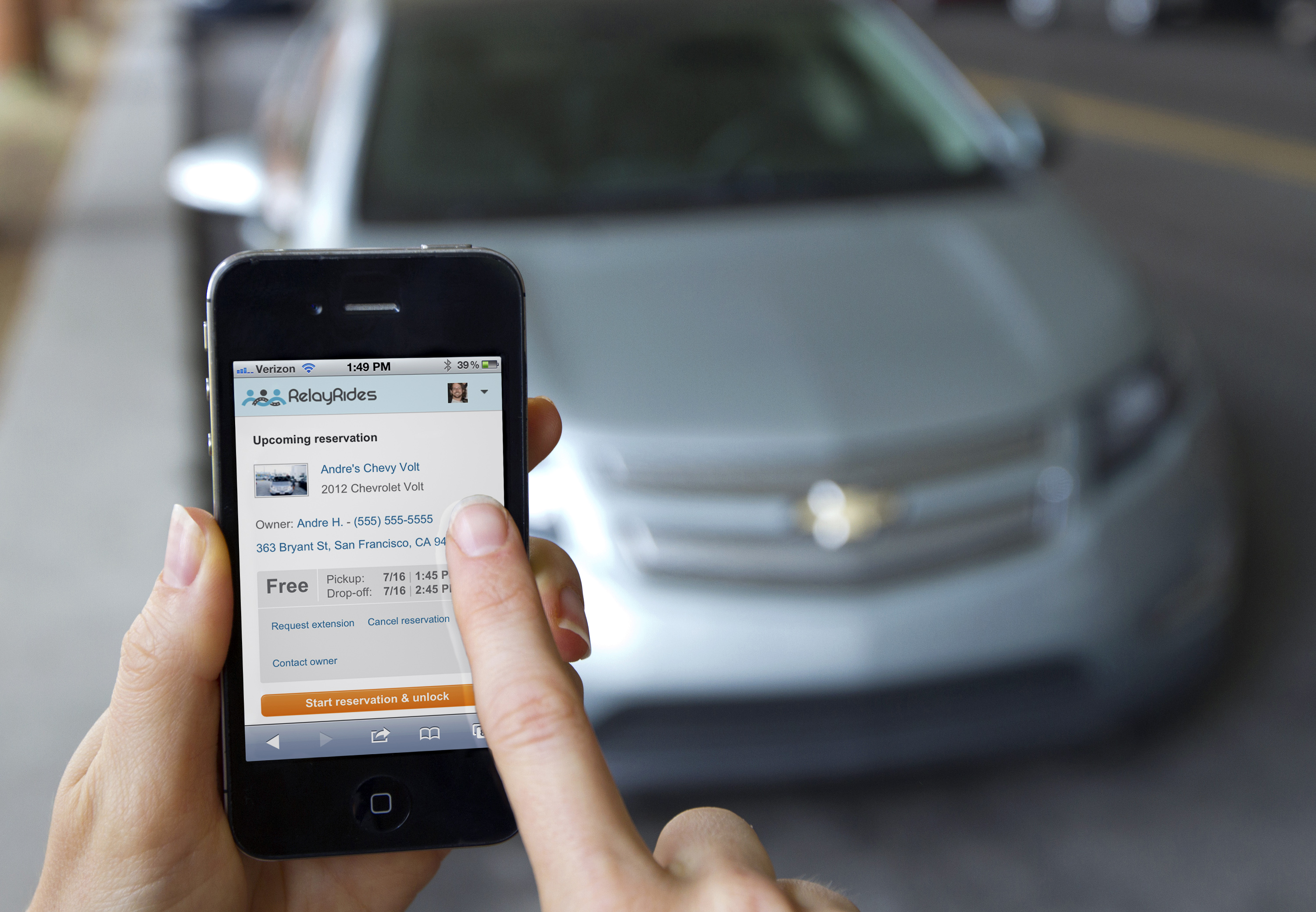 General Motors OnStar Relay Rides car-sharing app for iPhone
