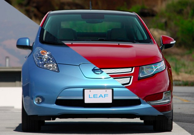 chevy volt nissan leaf mashup