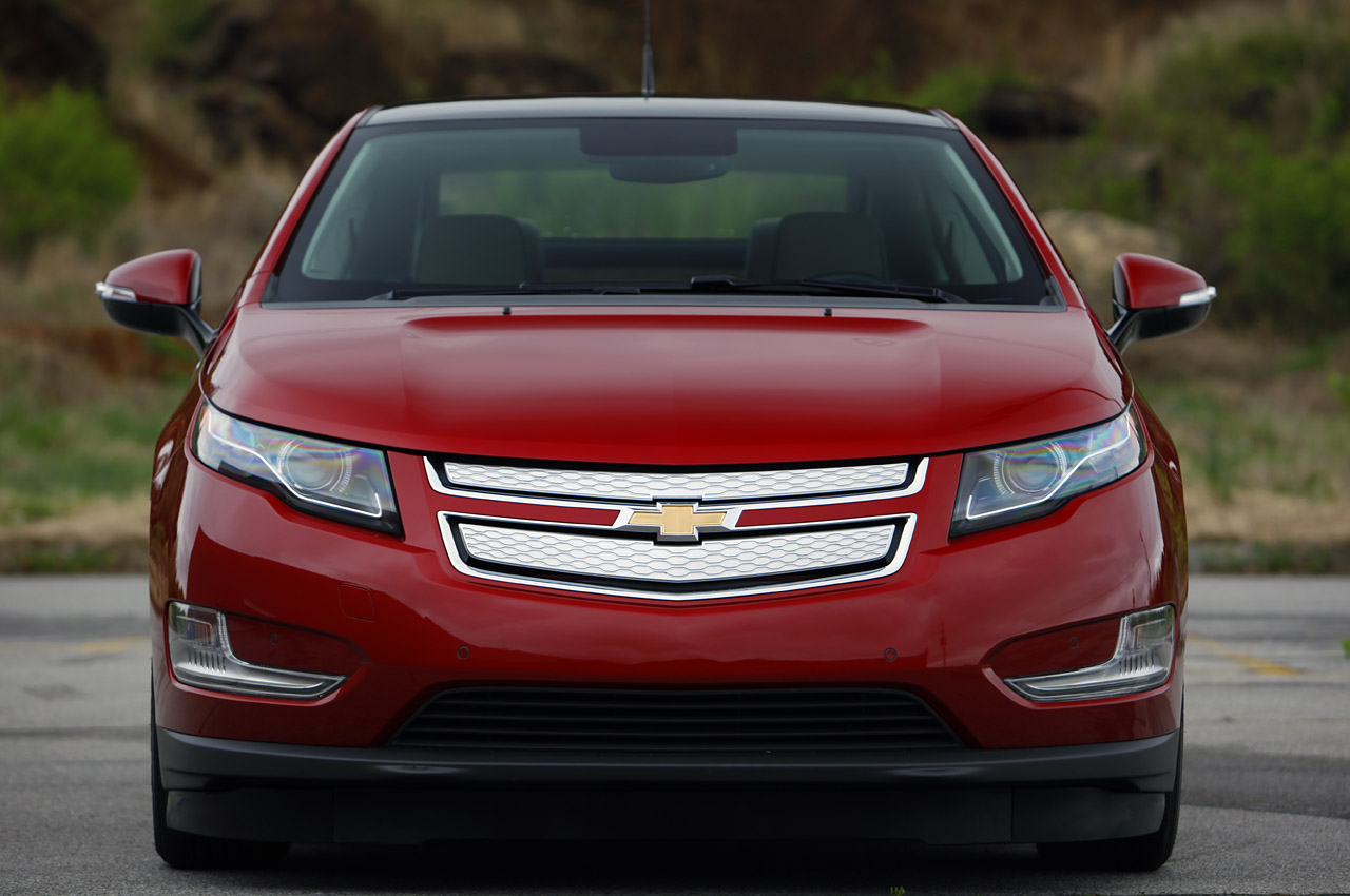 2012 Chevrolet Volt - maroon - dead-on shot