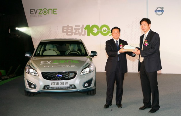 volvo c30 electric green car of the year award china