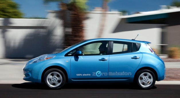 2012 nissan leaf blue