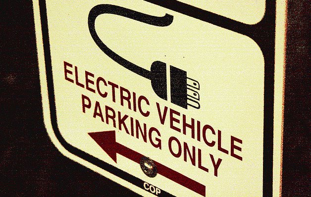 ev parking only sign