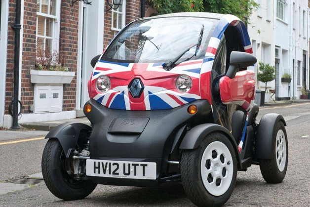 renault twizy in union jack